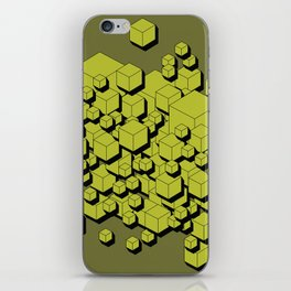 3D Futuristic Cubes V iPhone Skin