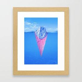 Ice Cream Berg Framed Art Print