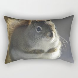 Red haired squirrel in soft focus Rectangular Pillow