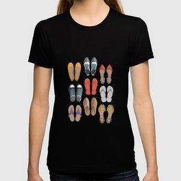 Hard choice // shoes on white background T-shirt