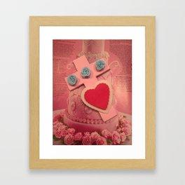 pink cross Framed Art Print