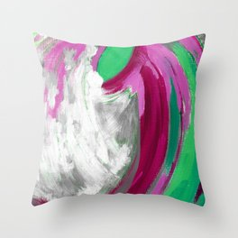 Abstract beginning of spring Throw Pillow