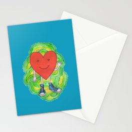 A Heart With Sneakers On Stationery Cards
