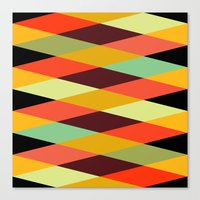 diamonds Canvas Prints featuring multicolor diamond pattern by Gary Andrew Clarke