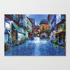 Rain in blue Canvas Print