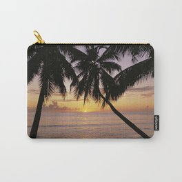 Tropical sunset, Mahe island, the Seychelles Carry-All Pouch