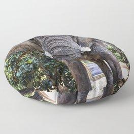 Bubbles the 9000-pound African elephant at the Myrtle Beach Safari program Floor Pillow
