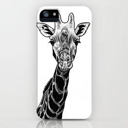 Giraffe - ink illustration iPhone Case