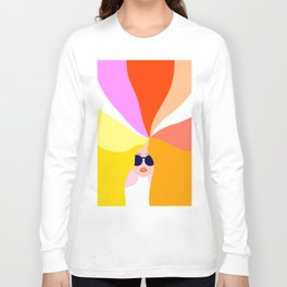 Girl Power - Rainbow Hair #girlpower Long Sleeve T-shirt