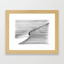 Backhand Gliding Framed Art Print