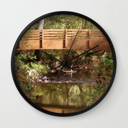 Bridge Over Brook Wall Clock
