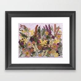 Pressed Flower English Garden Framed Art Print