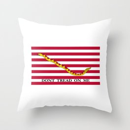 Don't Tread On Me -- First Navy Jack Throw Pillow