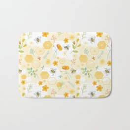 Honey Bees and Buttercups Bath Mat
