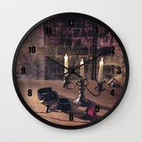 bdsm Wall Clocks featuring BDSM Rendezvous by Simone Gatterwe