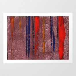 Bright red abstract painting Art Print