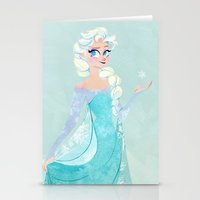 elsa Stationery Cards featuring Elsa by Laura Lewis