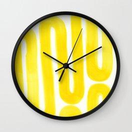 yellow subway Wall Clock