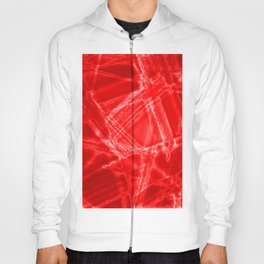 Frosty needles with chaotic bloody winter patterns of intersecting dark thorns on the glass. Hoody