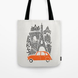 Paris Cityscape Tote Bag