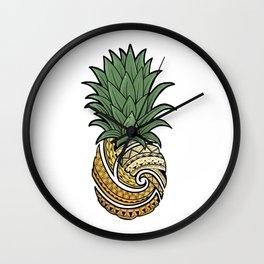 Poly Pineapple Wall Clock