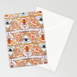 All Seeing Eye Pink Stationery Cards