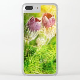 in the meadow Clear iPhone Case