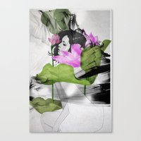 lotus flower Canvas Prints featuring Lotus by SEVENTRAPS
