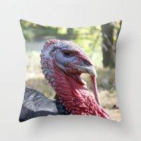 turkey Throw Pillows featuring Turkey by Gerstnecker Design
