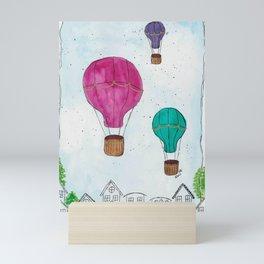 """""""Hot Air Balloon Ride"""" - Karla Leigh Wood Mini Art Print"""