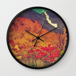 Autumn Baths in Kaanaii Wall Clock