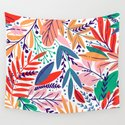Modern abstract coral forest green floral illustration by pink_water