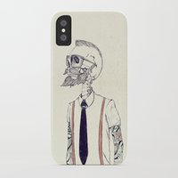 hipster iPhone & iPod Cases featuring The Gentleman becomes a Hipster  by Mike Koubou