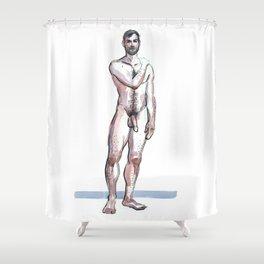 RYAN, Nude Male by Frank-Joseph Shower Curtain