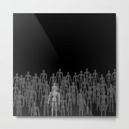 Crowd of Wooden Anatomy Drawing Life Model Dolls Metal Print