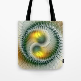 Like Yin and Yang, Abstract Fractal Art Tote Bag