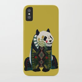 panda ochre iPhone Case