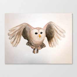 Owl-righty Then Canvas Print