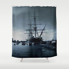 Ship The Warrior HMS 1860 Shower Curtain