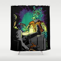 han solo Shower Curtains featuring Han Solo and greedo by trevacristina