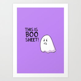 Grumpy Ghost Art Print