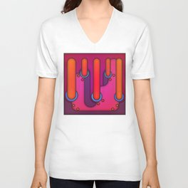 And Their Bright Factories Filled the Sky Unisex V-Neck
