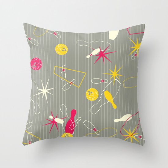 Bowling Pinstripe Throw Pillow