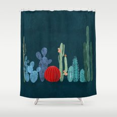 Cactus garden Shower Curtain