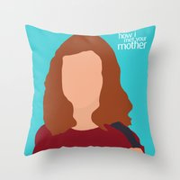 himym Throw Pillows featuring Lily Aldrin HIMYM by Rosaura Grant