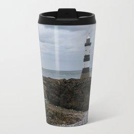 View Of The Trwyn Du Lighthouse Travel Mug