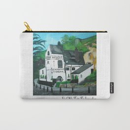 The Oldest Inn In England Acrylic Fine Art Carry-All Pouch