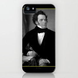 August rieder-Portrait of Schubert iPhone Case