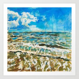 Galveston Water Art Print