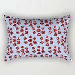 Dice Everywhere - Garnet Red Rectangular Pillow
